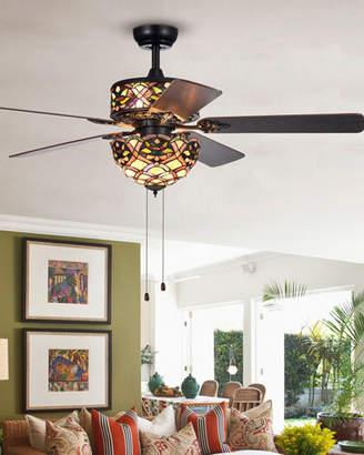 Home Accessories Kalsti Glass Chandelier Ceiling Fan