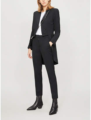The Kooples stretch wool tailcoat