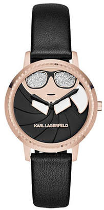 Karl Lagerfeld PARIS Camille Stainless Steel Bracelet Watch