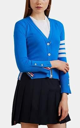 Thom Browne Women's Block-Striped Fine-Gauge Knit Cashmere Cardigan - Blue