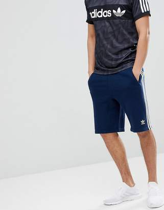 adidas adicolor 3 Stripe Shorts In Navy CW2438