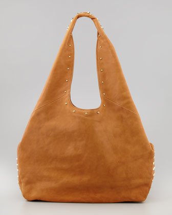 Be & D Sienna Studded Hobo Bag, Chestnut