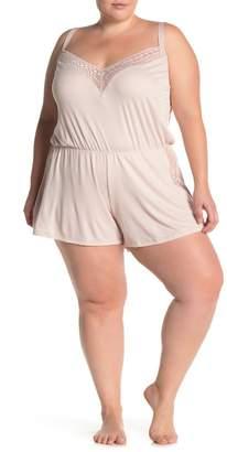 Cosabella x Eloquii Sweet Dreams Lace Trim Romper (Plus Size)