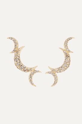 Isabel Marant Moon Gold-tone Crystal Earrings