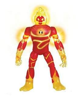 Ben 10 Deluxe Power Up Figures Heatblast