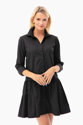 The Shirt by Rochelle Behrens Black Drop Waist Shirt Dress