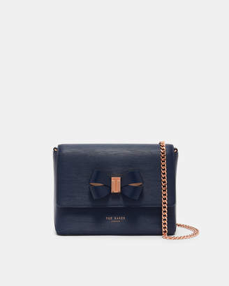Ted Baker BOWII Leather bow detail cross body bag