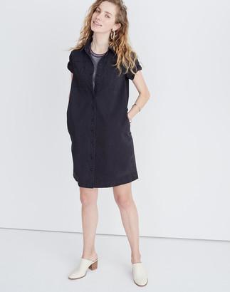 6f8ae29681 Madewell Denim A-Line Mini Shirtdress in Colton Wash
