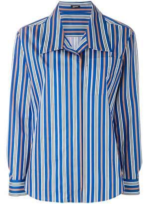Jil Sander Navy wide lapel blouse