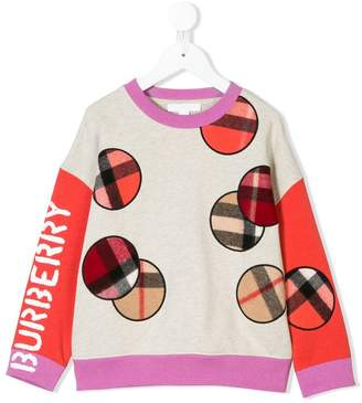 Burberry check circle sweatshirt