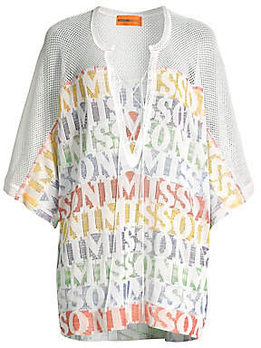 Missoni Mare Women's Rainbow Stripe Lace-Up Tunic