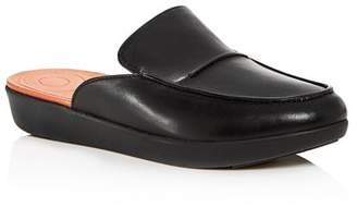 FitFlop Women's Serene Leather Smoking Slipper Platform Mules