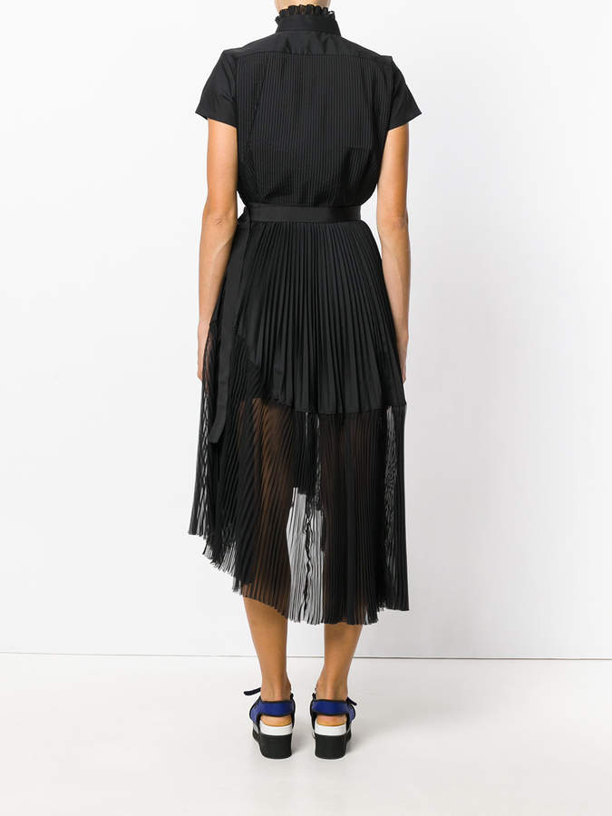 Sacai plissé pleated dress