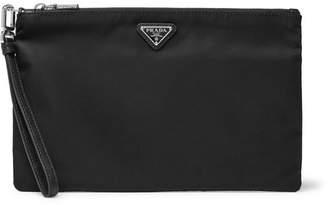 Prada Saffiano-Leather Trimmed Nylon Pouch