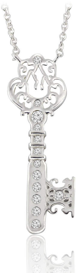 Castle Key Necklace - Disney Designer Jewelry Collection - Silver