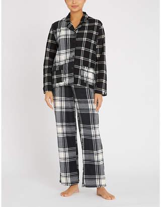 DKNY Checked fleece pyjama set