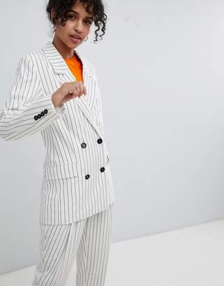 Monki Double Breasted Stripe Blazer