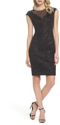 Vince Camuto Illusion Neck Lace Sheath Dress