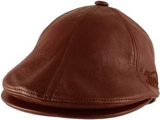 Von Dutch Morehats Authentic Faux Leather Newsboy Cap Gatsby Hat