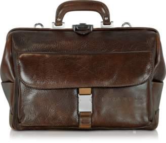 Chiarugi Large Brown Hammered Leather Doctor Bag