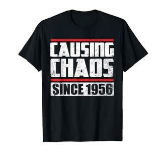 Chaos Causing Birthday Shirts Causing Since 1956 T-Shirt 63rd Birthday Gift