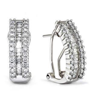 Fine Jewelry LIMITED QUANTITIES 1/2 CT. T.W. Diamond 14K White Gold Square Earrings ksXY5