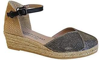 Eric Michael Women's Eric Michael, Copa Mid Heel Wedge Shoes 4 M