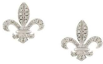 Elise Dray 18kt gold fleur-de-lys diamond stud earrings