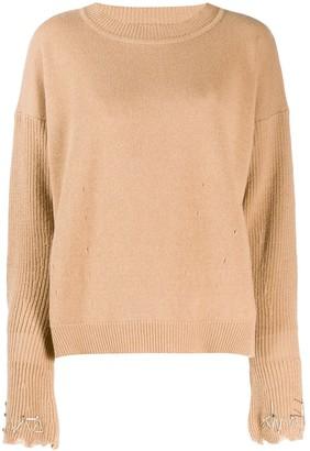 Pinko embellished sleeve sweater