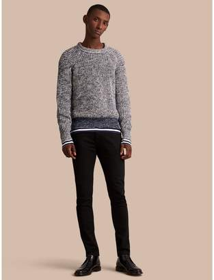 Burberry Chunky Knit Mouline Cotton Sweater