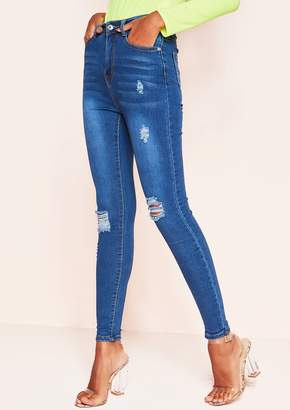 Ever New Deja Denim Distressed Skinny Jeans