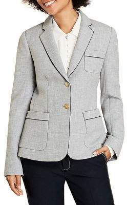 Brooks Brothers Red Fleece Piped Woven Blazer
