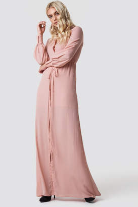 MANGO Mia-a Maxi Dress Pastel Pink