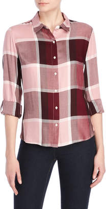 Tommy Hilfiger City Plaid Roll Tab Shirt