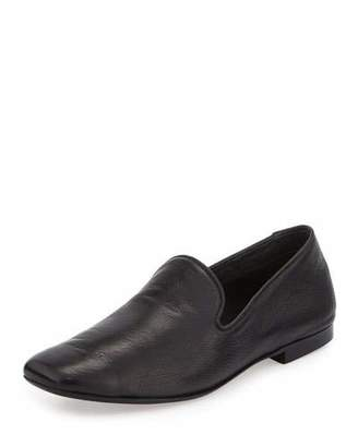 Vince Bray Leather Smoking Loafer, Black