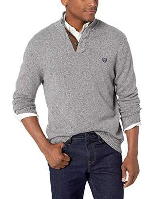 Chaps Men's Classic Fit Twist Button Mock Sweater