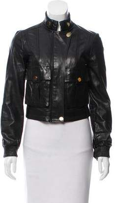 Tory Burch Leather Moto Jacket