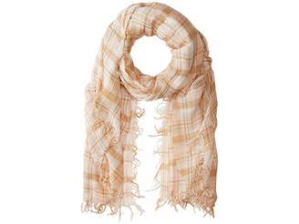 Chan Luu 70% Cashmere 30% Silk Plaid Print Scarf