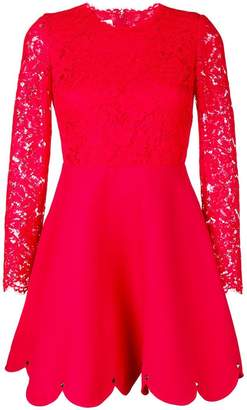 Valentino lace top mini dress