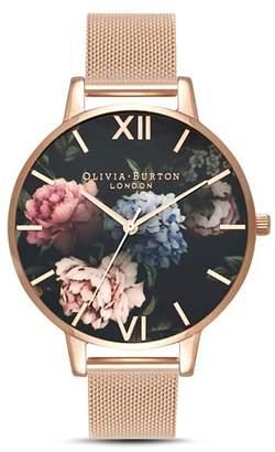 Olivia Burton Dark Bouquet Watch, 38mm