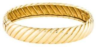 David Yurman 18K Sculpted Cable Bracelet