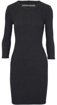 Enza Costa Ribbed-Knit Mini Dress