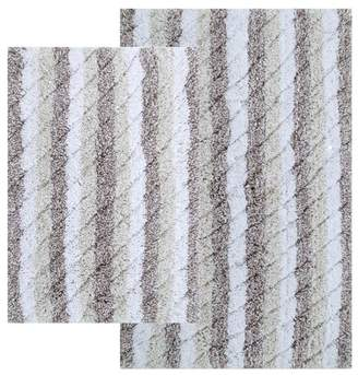 Ringspun Highland Dunes Cardoso Ring-Spun Cotton Textured Bath Rug