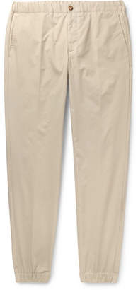 Incotex + Nanamica Slim-fit Tapered Cotton-twill Drawstring Trousers - Beige