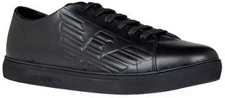 Emporio Armani Leather Logo Low-Top Sneakers