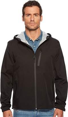 Cole Haan Men's Light Weight Packable Jacket with Exposed Waterproof Zippers