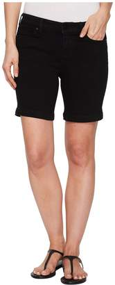 Liverpool Kristy Shorts in Soft Stretch Denim in Black Rinse Women's Shorts
