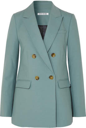 Elizabeth and James Sterling Double-breasted Woven Blazer - Sky blue