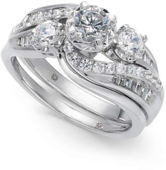 Macy's Diamond Swirl Bridal Set (1 ct. t.w.) in 14k White Gold
