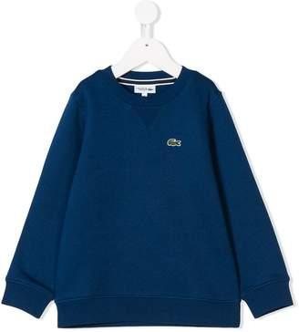 Lacoste Kids crew neck sweatshirt